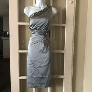 Eliza J. Beaded One Shoulder Dress